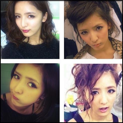 藤井萩花  髪型