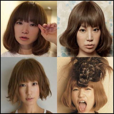 YUKI 髪型