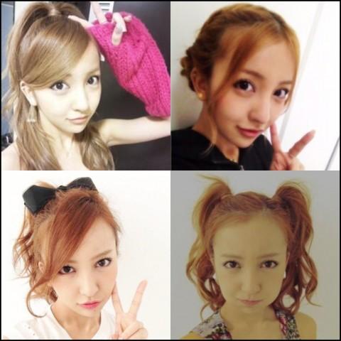 板野友美 髪型